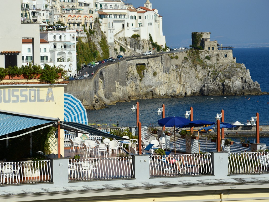 In center of Amalfi